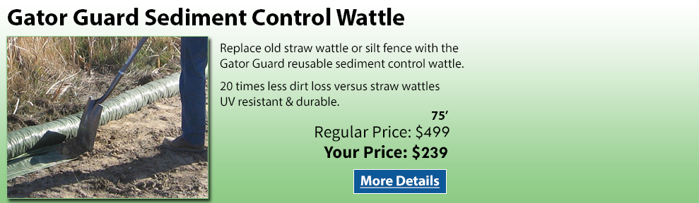 Gator Guard Sediment Control Wattle